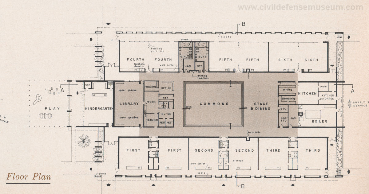 Shelter Floor Plan With Fireplace : Civil defense museum art gallery shelter models